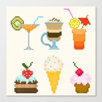 dessert Canvas Prints featuring Dessert by Valendji