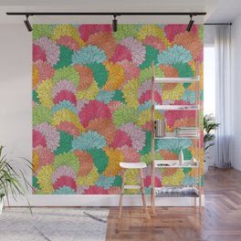 Hydrangea Haven Bright Summer Floral Wall Mural