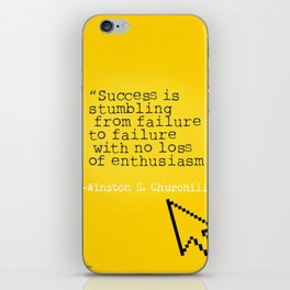 Winston S. Churchill about success iPhone Skin