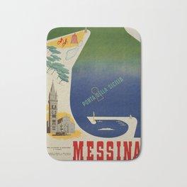 Messina port of Sicily Bath Mat