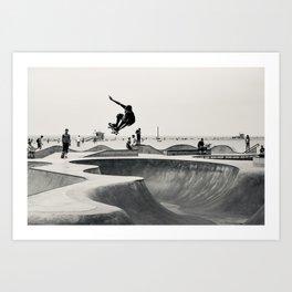 Skateboarding Print Venice Beach Skate Park LA Art Print