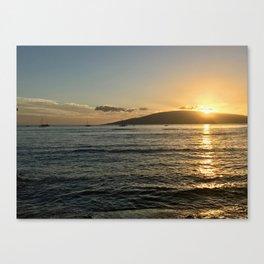 Lahina Sunset Canvas Print