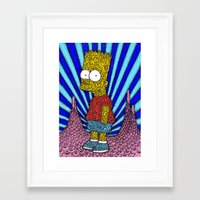 simpson Framed Art Prints featuring Bart Simpson by OKAINA IMAGE