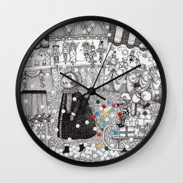 After Hours at the Christmas Market Wall Clock
