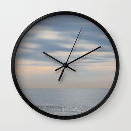 Morning at the ocean Wall Clock