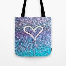 glitter heart- photograph of glitter  Tote Bag