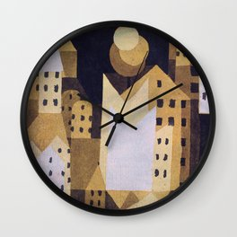 "Paul Klee ""Cold City"" Wall Clock"