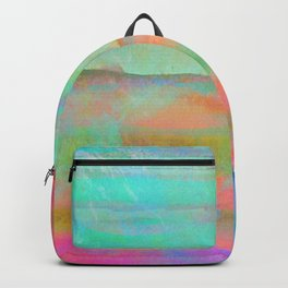 pastel coloured abstract design Backpack