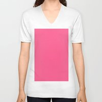 strawberry V-neck T-shirts featuring Strawberry by List of colors