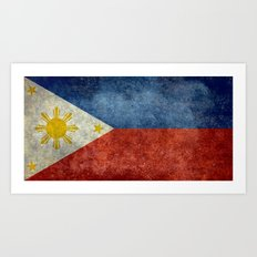 Republic of the Philippines national flag (50% of commission WILL go to help them recover) Art Print