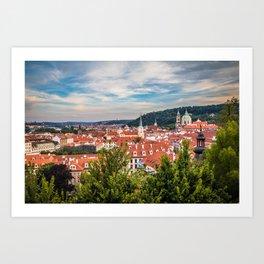Prague from Petrin Hill Art Print