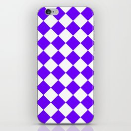 Large Diamonds - White and Indigo Violet iPhone Skin