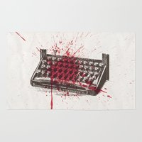 movie poster Area & Throw Rugs featuring Misery - minimal movie poster by Stefanoreves