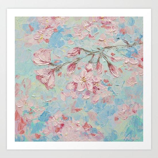 Yoshino Cherry Blossoms No. 2 Art Print