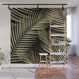 Palm Leaves - Gold Cali Vibes #2 #tropical #decor #art #society6 Wall Mural