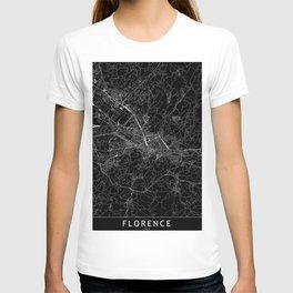 Florence Black Map T-shirt