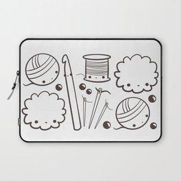 crochet cute - kawaii craft supplies Laptop Sleeve