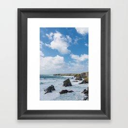 Bedruthan Steps Newquay Cornwall Framed Art Print