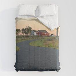 Winding Gettysburg Dawn Road Comforters