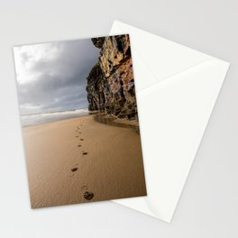 Footprints in the Sand Stationery Cards