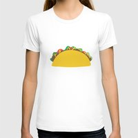 taco T-shirts featuring Taco  by Beautiful Artworks