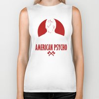 american psycho Biker Tanks featuring American Psycho by Buby87