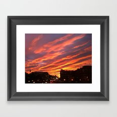 Dashing Dusk Framed Art Print
