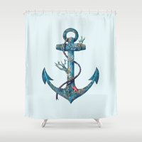 lost Shower Curtains featuring Lost at Sea by Terry Fan
