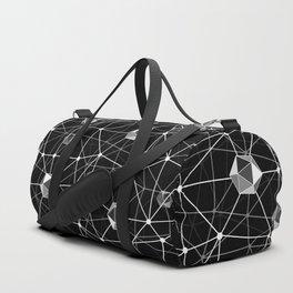 Black and White Geometric Shape Constellation Dream Duffle Bag