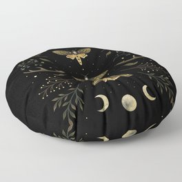 Death Head Moths Night Floor Pillow