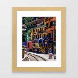 Peru Rail Train - Aguas Calientes Framed Art Print