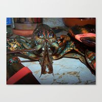 lobster Canvas Prints featuring Lobster by DanByTheSea