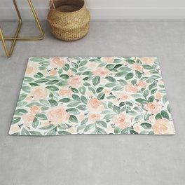 """Loose watercolor florals, """"Miriam"""" Rug"""