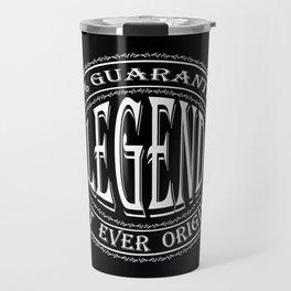 100% Legend (white on black) Travel Mug