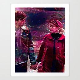 Chilling Adventures of Sabrina Spellman Holding Hands (Ross Lynch)(Kiernan Shipka) Art Print