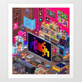 Edge Retro Cover Reboot... Art Print