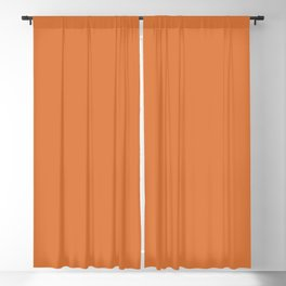 Solid Color - Pantone Amber Glow 16-1350 Orange Blackout Curtain