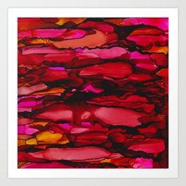 Ruby River Ripples Art Print