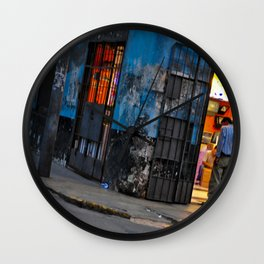 Traveling the Streets of Lima, Peru Wall Clock