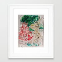 asia Framed Art Prints featuring ASIA by Artistchloe