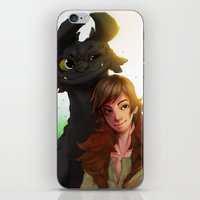 hiccup iPhone & iPod Skins featuring Toothless x Hiccup  by Asad Farook