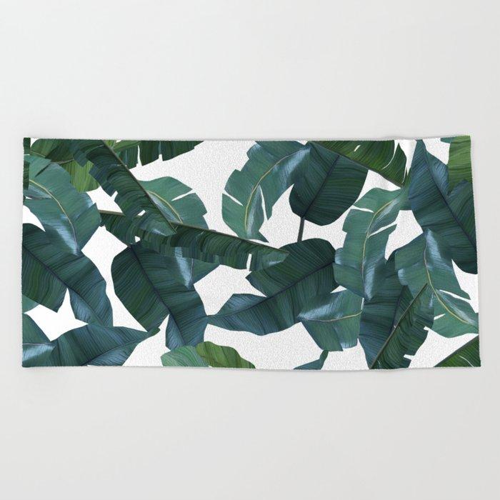 Banana Leaf Decor #society6 #decor #buyart Beach Towel