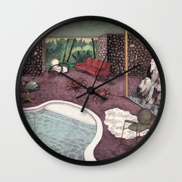Crabs Wall Clock