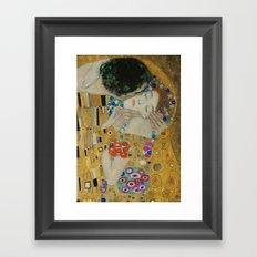 Gustav Klimt - The Kiss (detail) Framed Art Print