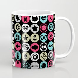 Colorful pattern with various elements Coffee Mug