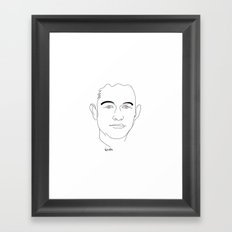 Portrait: Joseph Gordon-Levitt Framed Art Print