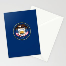 Utah State Flag - Authentic Version Stationery Cards