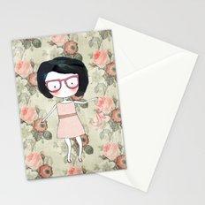 Nerdy girl Stationery Cards