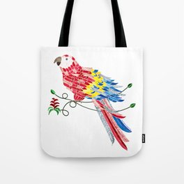 Bird of Costa Rica, scarlet macaw Tote Bag