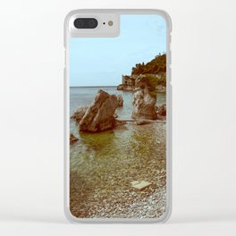 A coastline and a castle Clear iPhone Case